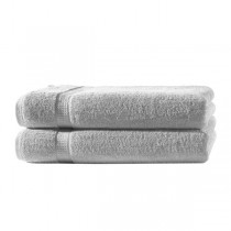 Frottiertücher Pack 100% BW, 500g/m², flauschig weich-Silber-2 Stück 70x140cm - Duschtuch