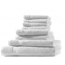 Frottiertuch XL-Set  8-tlg. - 100% Baumwolle, 500g/m² -Weiß