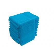 10er Pack Waschhandschuhe 16x21cm 500g/m² 100% Baumwolle-Türkis