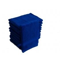 10er Pack Waschhandschuhe 16x21cm 500g/m² 100% Baumwolle-Royal