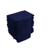 10er Pack Waschhandschuhe 16x21cm 500g/m² 100% Baumwolle-Navy