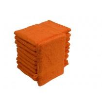 10er Pack Waschhandschuhe 16x21cm 500g/m² 100% Baumwolle-Terra