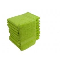 10er Pack Waschhandschuhe 16x21cm 500g/m² 100% Baumwolle-Apfelgrün