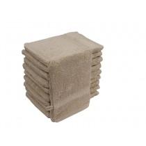 10er Pack Waschhandschuhe 16x21cm 500g/m² 100% Baumwolle-Beige