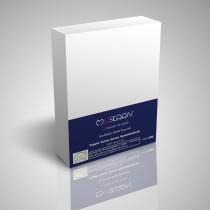 BOXSPRING TOPPER JERSEY SPANNBETTLAKEN 100% Baumwolle-Weiß-200x200+15cm