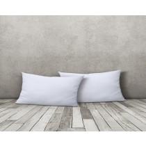 2er Set Jersey Kissenbezug mit gleichfarbigem Reißverschluss Kissenhülle-Weiß-40x80cm